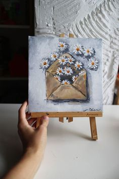 40 Easy Acrylic Painting Ideas on Canvas Empty Canvas, Diy Canvas Art, Big Canvas, Simple Acrylic Paintings, Easy Paintings, Original Paintings, Art Projects, Decorative Boxes, Miniatures