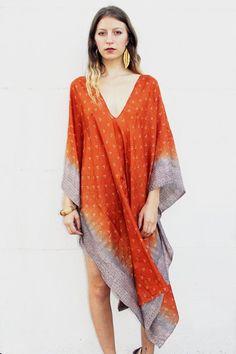 hand dyed silk   Silk Hand-Dyed Batik Cape