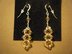 Swarovski Crystal and Sterling Silver Wire Earrings