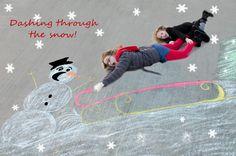 Happy Friday: Unique Christmas Card Photo Idea
