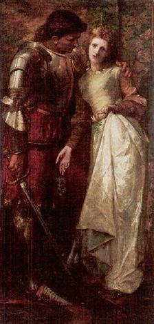 """Ophelia and Laertes"" -- by William Gorman Wills (British, 1828–1891)"