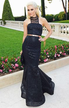 Gwen Stefani in a custom L.A.M.B. gown at amfAR's Cinema Against AIDS Gala, 2012