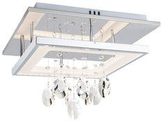 Bei Dieser LED Deckenlampe Trifft Modernes Design Auf Außergewöhnliche  Elemente: Die Leuchte Aus Verchromten