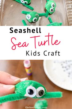 This Sea Turtle craft is fun and easy to make with the kids as a summer craft or an addition to learning about turtles. The kids will love making these cute turtles. #turtle #kidscraft Beach Crafts For Kids, Summer Crafts, Toddler Crafts, Kids Crafts, Shark Activities, Educational Activities For Kids, Indoor Activities For Kids, Turtle Crafts, Crafty Kids