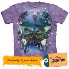 Dragonfly Shirt Tie Dye Dreamcatcher T-shirt Adult Tee (Small) Mountain Dream Catcher For Kids, Biker, Steampunk, Textiles, Kawaii, Native American Indians, Short, Classic T Shirts, Shirt Designs