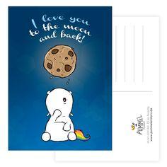 Pummeleinhorn Postkarte Cookiemoon | Pummeleinhorn