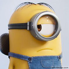 MINIONS Short Movie - The CompetitionThe story of Universal Pictures and Illumination Entertainment's Minions begins at the dawn of time. Starting as single-celled yellow organisms, Minions evolve t Minion Gif, Cute Minions, Minion Jokes, My Minion, Minions Illumination, Birthday Quotes Bff, Funny Minion Pictures, Emoji Pictures, Illumination Entertainment