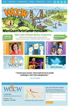 http://westcoastchristianwriters.com/ uses large clickable buttons so visitors can easily access key content. Built by BloggingBistro.com using responsive design technology.