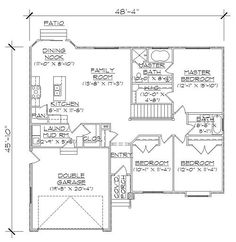 Rambler House Plans 205276 plan tbd main level plan Rambler House Plans With Basements Professional House Floor Plans Custom Design Homes