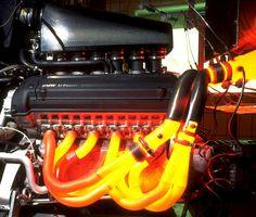 Glowing Mclaren F1 engine