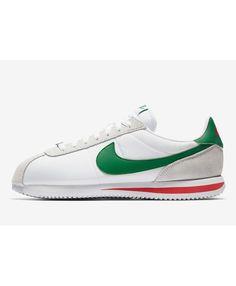 watch f123a c6474 Nike Cortez Femme Blanc Vert Rouge Gris