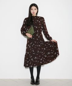YES OR NO? Long Tiered Floral Print Dress