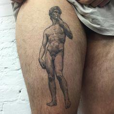 Healed David on Julian #statueofdavid #michelangelo