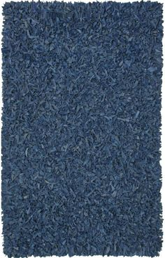 St. Croix Trading Pelle Leather Shag LL02 Blue Rug | Contemporary Rugs #RugsUSA
