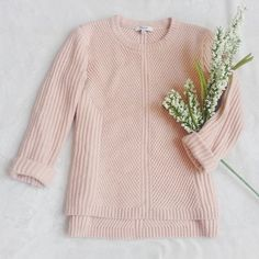 {Madewell}  Blush Pink Knit Sweater Madewell Blush Pink Cozy Knit Sweater in Dusty Rose ••• Cotton, viscose, nylon blend Perfect condition Size XS ~~~ In a soft pink hue, this Madewell sweater is just cozy heaven!  Nice thick knit with gorgeous definition.  Vegan Friendly  Madewell Sweaters Crew & Scoop Necks
