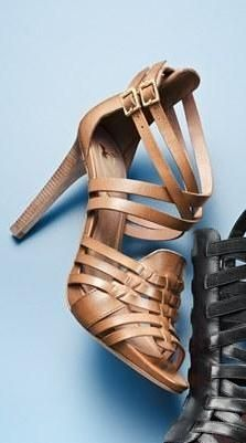 Love this woven leather sandal for spring.