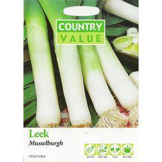 Country Value Musselburgh Leek Vegetable Seeds | Bunnings Warehouse