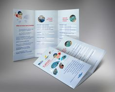 Print folder for swimming company