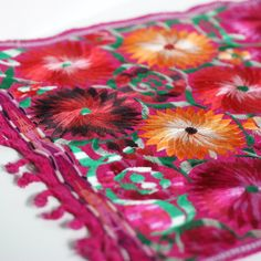 Vibrant Machine Embroidered Placemats. This is an awesome site for Mexican-style decor!!