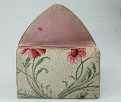 Antique Georgian Silk Purse Pocketbook Pocket Book Letter Case 18th Century 1700's