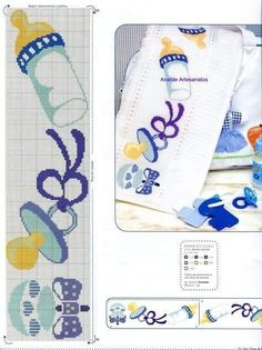 Cross Stitch Baby, Cross Stitch Patterns, Baby Patterns, Crochet Patterns, Needlepoint Designs, Baby Bedding Sets, Bargello, Le Point, Diy And Crafts