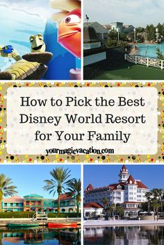 How to Pick the Best Disney World Resort for Your Family - Paris Disneyland Pictures Best Disney World Resorts, Best Disney Resort, Disney Resort Hotels, Disney World Parks, Walt Disney World Vacations, Best Resorts, Disney Trips, Disneyworld Resorts, Disney Travel