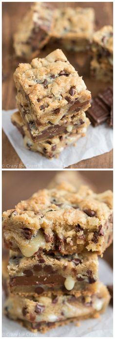 Chocolate Chip Cookie Gooey Bars