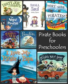 10 fun pirate books for preschoolers! I'm thinking of my little cousin for these. Doris check it out!