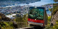 Fløibanen Funicular - A favorite with sightseers, this Norwegian funicular provides easy access to a stunning view of Bergen and its environs
