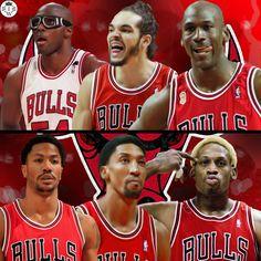 All Chicago Bulls Edition!   Horace Grant, Joakim Noah, and Michael Jordan VS Derrick Rose, Scottie Pippen, and Dennis Rodman.  Who Would Win It?
