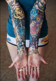 Women with Sleeve Tattoos - Inked Magazine