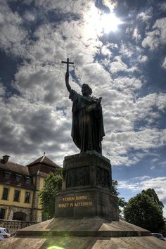 Statue of St. Boniface, Fulda, Hessen, Germany