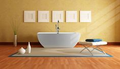 Tubs  | MTI Adrian Freestanding Soaker Tub Contemporary Tubs by MTI