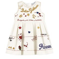 Dress with embroidery and matching bloomers Boys And Girls Clothes, Toddler Girl Outfits, Toddler Fashion, Kids Outfits, Kids Fashion, Baby Girl Closet, Baby Dior, Winter Baby Clothes, Dolce And Gabbana Kids
