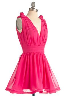 I LOVE the details on this dress!!    Anything Flamingos Dress, #ModCloth