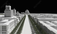 "Welthauptstadt Germania / 1939 / 3D Reconstruction Welthauptstadt Germania ( ""World Capital Germania"") : refers to the projected renewal of the German capital Berlin during the Nazi period, part of Adolf Hitler's vision for the future of Germany after the planned victory in World War II. (Albert Speer, the ""first architect of the Third Reich"", produced many of the plans for the rebuilt city in his capacity as overseer of the project, only a small portion of which was realized between the…"