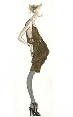 [ Versailles ] Collection New York Spring 2009 | Myrtle Quillamor #fashion #illustration