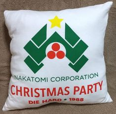 Christmas Crafts, Christmas Decorations, Christmas Ornaments, Xmas, Christmas Tree, Die Hard Christmas, Hard Nails, Knit Pillow, Pillow Forms