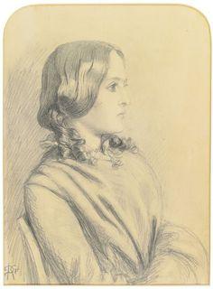Dante Gabriel Rossetti (1828-1882), Portrait de Margaret Thompson.