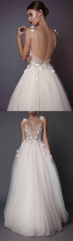 Muse Berta Fall 2017 embellished bodice floral applique low back bridal dresses