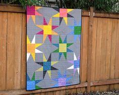 "Finished size: 49.5"" x 63.5"" Pattern: Sandia from Southwest Modern"