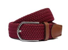 """The Maroon Five!  Adam Levine would be proud of our solid maroon woven belt. Perhaps he will sing songs about it... One can only dream of men's woven belts being that interesting. When wearing such a belt you do really feel like you have """"Moves like Jagger"""". Mens Woven Belts, Moves Like Jagger, Adam Levine, Songs To Sing, Singing, How To Wear, Accessories, Collection, Jewelry Accessories"""