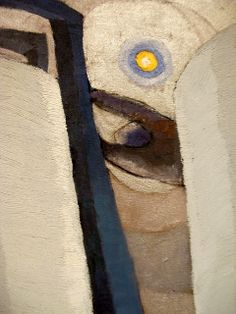 Silver Tanks and Moon by Arthur Dove, 1930. Oil and metallic paint on canvas.
