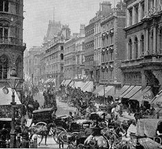 Cheapside London England 1890 Large Photo Print Original Victorian Rotogravure Illustration
