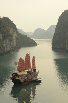 Dragon's Pearl, Halong Bay  Vietnam  Aboard the Dragon's Pearl, journey through the mysterious and beautiful Ha Long Bay in Vietnam.