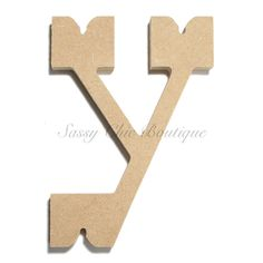 unfinished wooden letter lowercase y western font