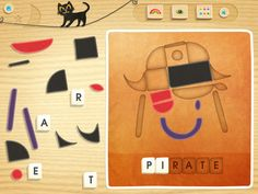 This free app has amazing graphics and fun puzzles, with 12 different tangram-style puzzles to complete. Use the shapes to complete a pirate, pumpkin, owl, and more. There are even letters to spell the word. Always appreciated is the easy access to mute the music! It's an app that is amazingly free for all content, and definitely worthy of being on the rotation even when Halloween passes.