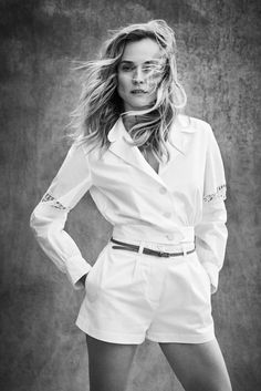 """lelaid: """" Diane Kruger by Victor Demarchelier for Town & Country, August 2016 """" Diane Kruger Joshua Jackson, Victor Demarchelier, Town And Country Magazine, Black And White Stars, The White Album, Hollywood, Lookbook, Miranda Kerr, White Fashion"""