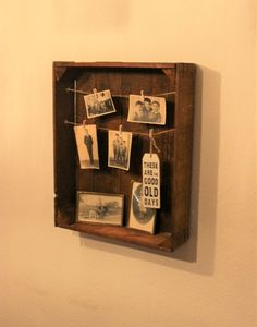 Fotokasten Memo Boards, Good Old, Good Things, Etsy, Pictures, Old Wooden Boxes, Postcards, Simple, Deco