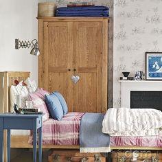 Inšpirácie pre modré spálne - drevo | Mojdom.sk